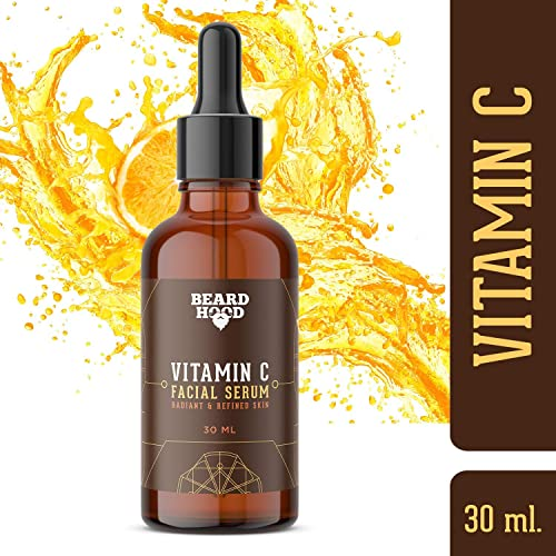 Beardhood Vitamin C Serum for Face with Vitmain C 20%, Hyaluronic Acid and Green Tea Extract, 30 ml product image