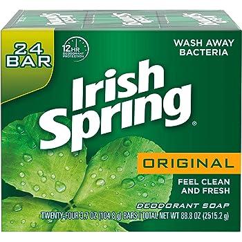 Irish Spring Men's Deodorant Soap Bar, Original Scent - 3.7 ounces (24 Count)