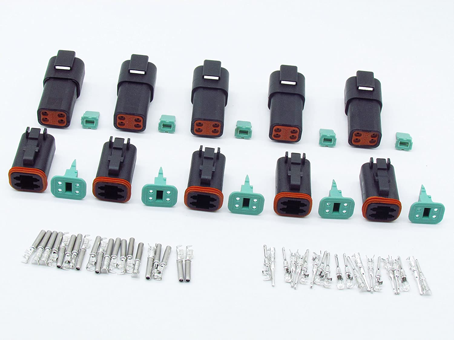 CNKF 5 Sets 4Pin DT Connector Sealed kit P Waterproof Now free shipping Electrical Max 88% OFF