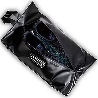 ALLORRY 24 Pcs Black Travel Shoe Bag,Two sizes Non-Woven Storage PouchTransparent Slot Packing