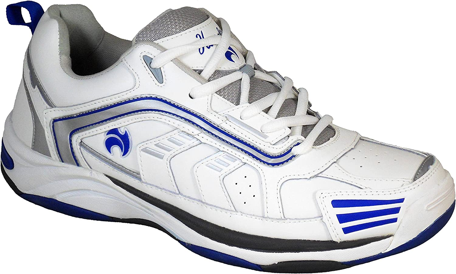 Henselite Mens MPS44 Quality Leather Lawn Bowls shoes Wider Fit White