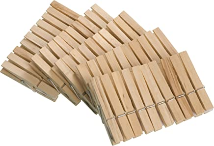 Clothes Pegs Set of 50 7 cm Wood