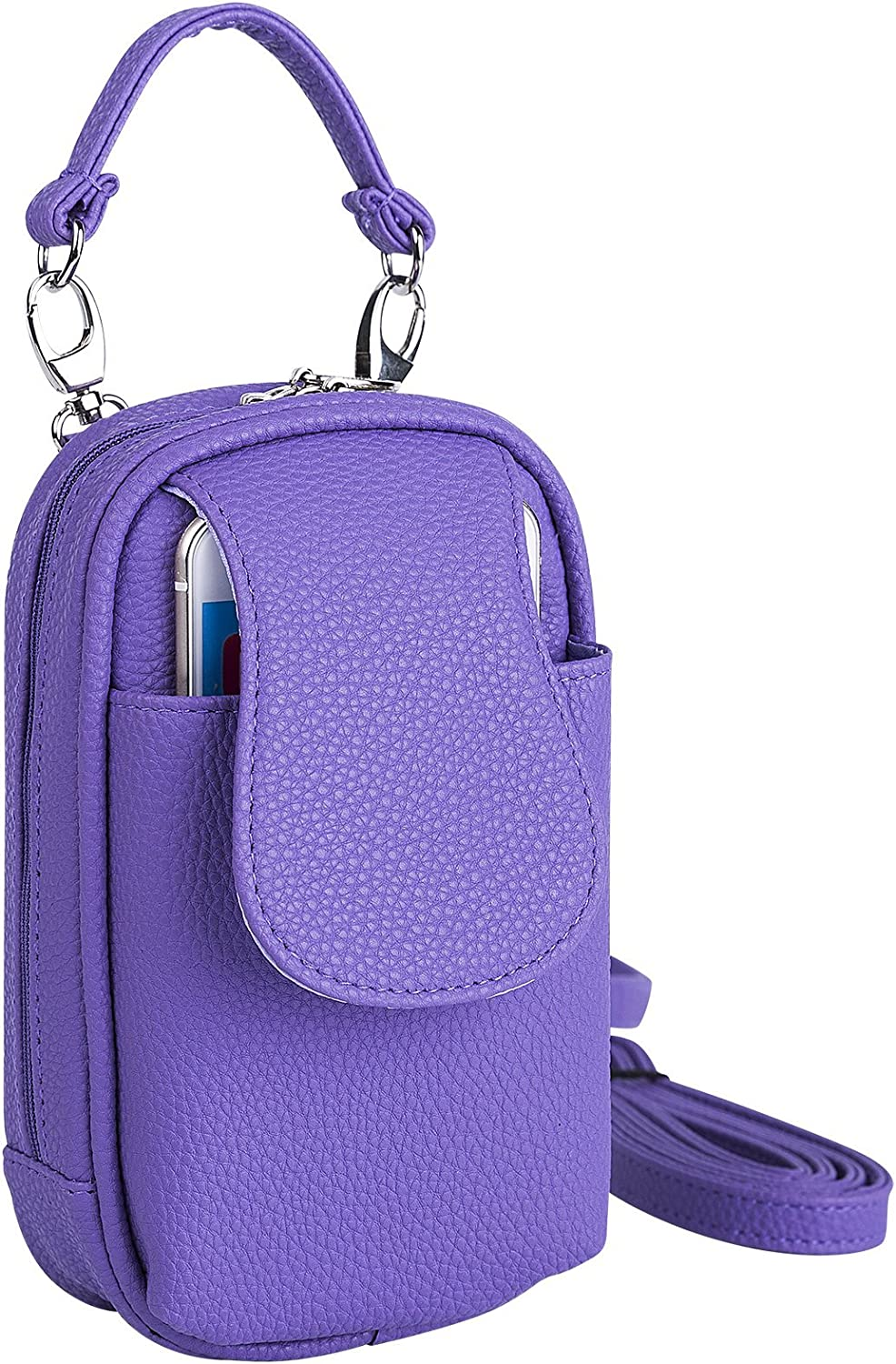 Cell Phone Purse CrossbodyiPhone6iPhone7iPhone8 Plus Size Leatherette Many colors