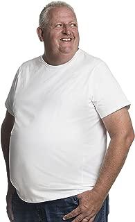 Perfect Big Men T-Shirt - Size 2XL – 8XL, Revolutionary Design, Crew Neck 2 Pack