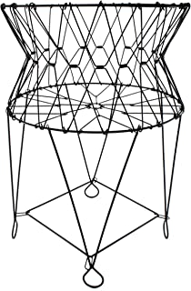 AuldHome Vintage Laundry Basket, French Country Wire Folding Laundry Hamper