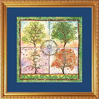 Jewish Home Blessing Framed Print (HB-9, Seasons of Love)