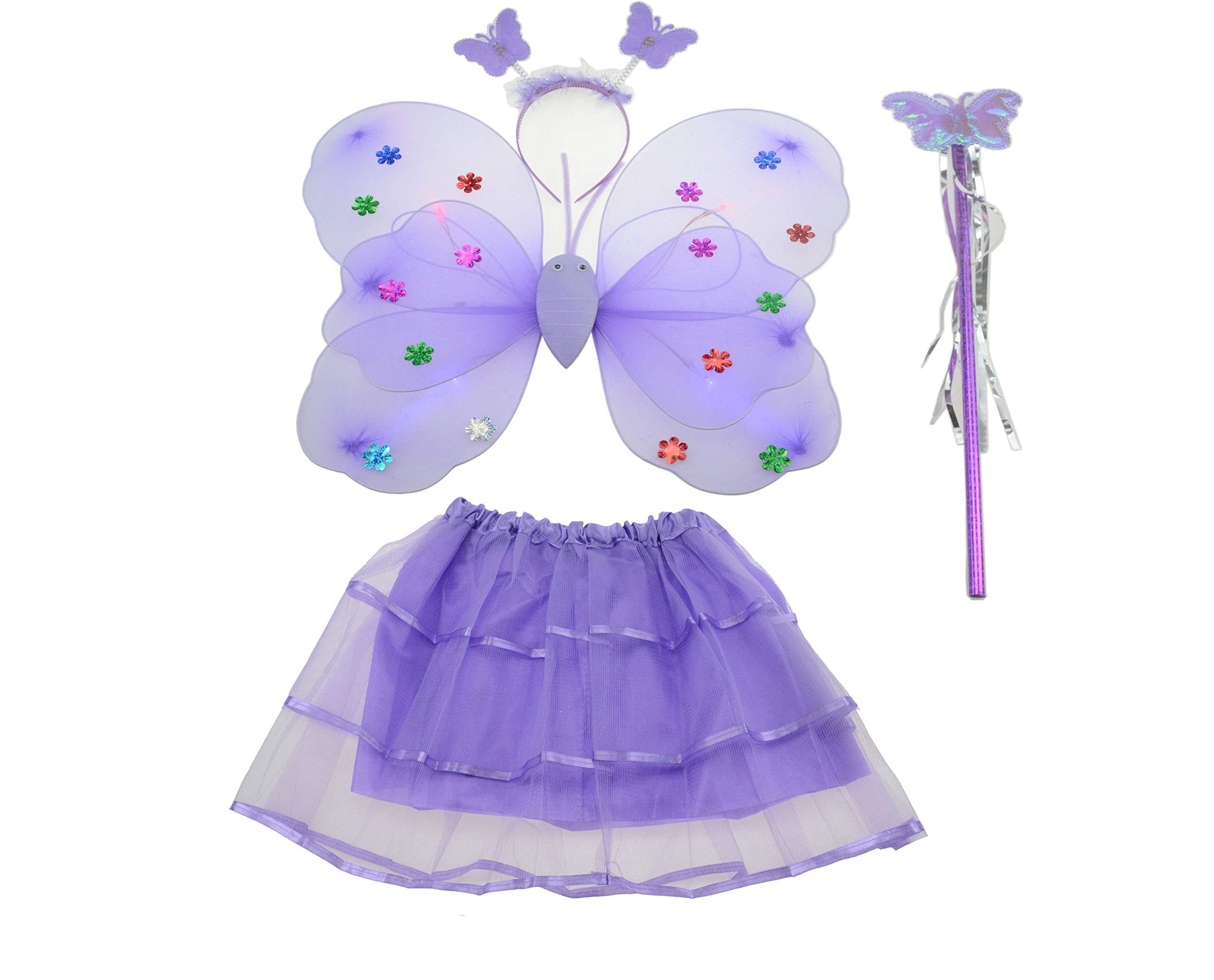 W Fashion shop - Juego de 4 Faldas tutú con alas de Mariposa, alas ...