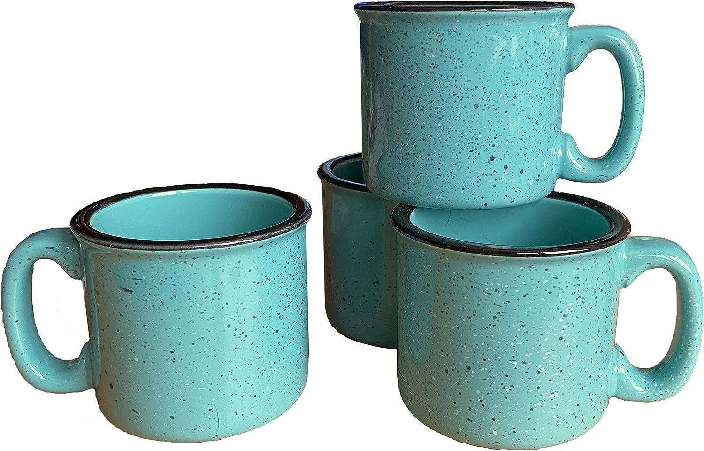 Marble Creek Ceramic Kansas City Mall Campfire Mug 15oz of Aqua - Minneapolis Mall Set 4