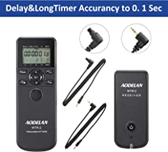 AODELAN WTR2 Wireless Timer Remote Control Camera Shutter Release for Canon EOS R, 80D, 77D, 70D, 60D, 800D, 200D,7D Series, 5D Series,T7,T7i, T6, T6i,T5i, PowerShot SX70H; Replace TC-80N3 & RS-60