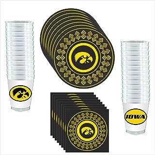 iowa hawkeye paper plates
