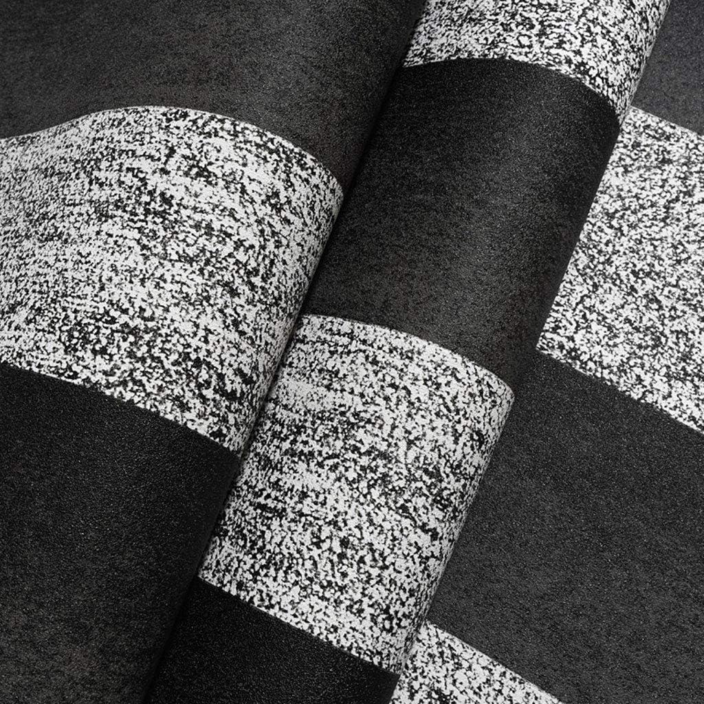 Amazon Co Jp 壁紙 シンプルな白黒グレーの壁紙33 3フィート1ロール格子縞のストライプの寝室のリビングルームの背景壁紙 耐久性 Color Gray サイズ 33 2 Feet ホーム キッチン