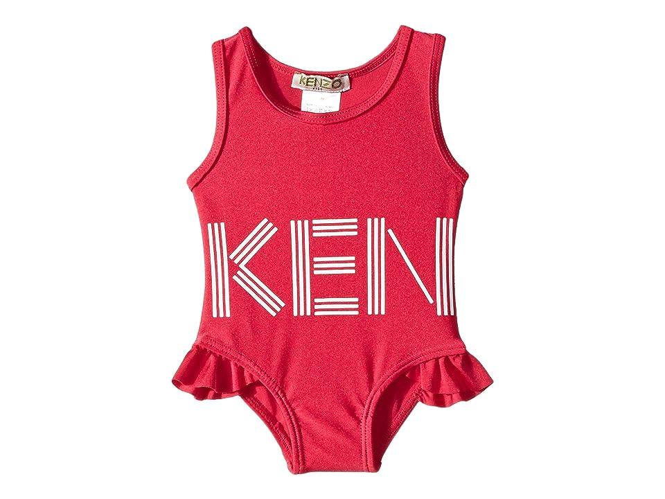 Kenzo Kids Logo Swimsuit (Infant) (Fuchsia) Girl