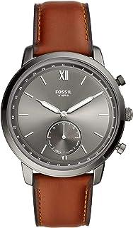 Smartwatch ibrido FOSSIL Neutra cinturino in pelle ambra FTW1194