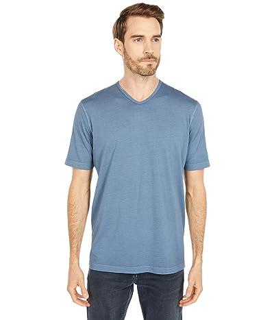 Mod-o-doc San Diego Short Sleeve V-Neck (Smokey Blue) Men