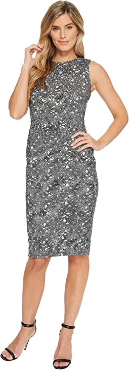 Ivanka Trump - Jacquard Knit Sleeveless Midi Dress