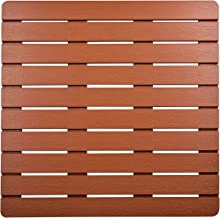 I FRMMY Premium Large Bath Tub Shower Floor Mat Made of PS Wood- Suitable for Textured and Smooth Surface- Non Slip Bathro...