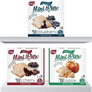 Katz Gluten Free Snacks Mini Pies Variety Pack | Apple, Blueberry, Cherry | Dairy Free, Nut Free, Soy Free, Gluten Free | Kosher (1 Pack of each)