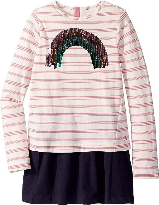 Pink Stripe Sequin Rainbow