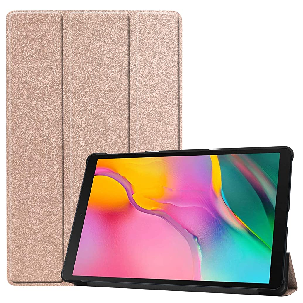 Samsung Galaxy Tab A 10.1 2019 Case, TopACE PU Leather Smart Case【Auto Wake/Sleep】 with Stand Function Compatible for Samsung Galaxy Tab A 10.1 2019 Release (Rose Gold) zcaqecak45111