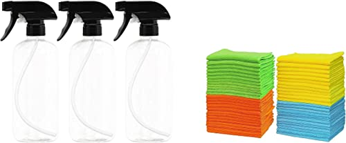 popular EPAuto Heavy outlet sale Duty Chemical Resistant Bottles with Sprayer + Microfiber Cleaning outlet sale Cloth sale