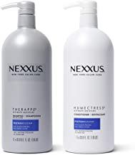 Nexxus Shampoo and Conditioner for Dry Hair Therappe Humectress Silicone-Free, Moisturizing Caviar Complex and Elastin Protein 33.8 oz 2 Count