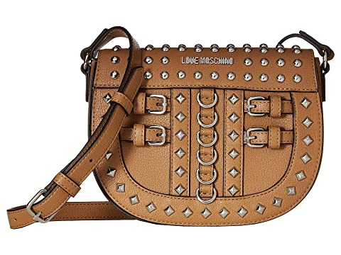 LOVE Moschino Crossbody Bag with Belt Studs at Luxury.Zappos.com ad91875e3d