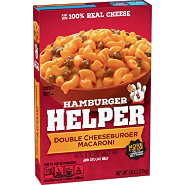 Betty Crocker Hamburger Helper, Double Cheeseburger Macaroni, 6 oz