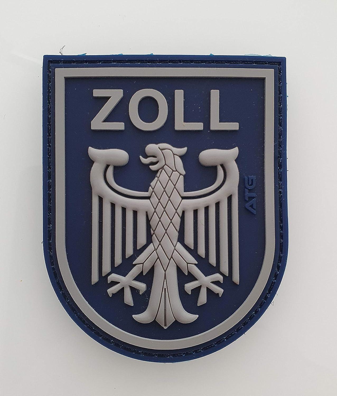 Atg Ärmelabzeichen Zoll 3 D Rubber Patch Blau Auto