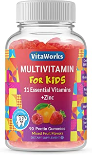VitaWorks Kids Multivitamin – Great Tasting Natural Flavor Gummy – Vegetarian, GMO Free Vitamin Supplement – with Vitamins...