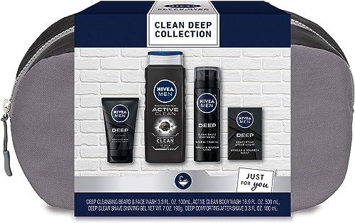 Nivea Men Clean Deep Skin Care Collection for Men, 30.5 Fl Oz