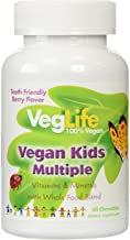 VegLife Multiple Vegan for Kids Chewable Tablets, Berry, 60 Count