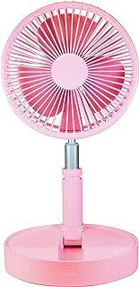 エンプレイス (nplace) 扇風機 折畳み扇風機 コードレス 首振り上下180度 風量調節4段階 (自然風) USB 充電式 軽量 ライトピンク NY-F100(LP) [メーカー保証1年]
