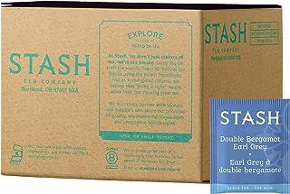 Stash Tea Double Bergamot Earl Grey Tea 100 Count Box of Tea Bags, Full Caffeine Tea, Black Tea with Bergamot, Enjoy Hot o...