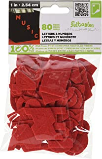 The New Image Group Stick It Felt, 1-Inch Numbers & Letters, Red, 80-Pack