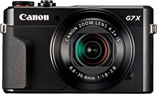 Canon PowerShot G7 X Mark II - Cámara digital compacta de 20.1 MP (pantalla de 3 apertura f/1.8-2.8 zoom óptico de 4.2x video full HD WiFi) color negro