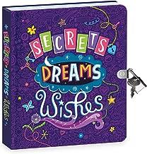 أسرار المملكة التي يمكن السلام عليها أحلام وأمنيات تتوهج في الظلام، 16.25 سم، قفل ومفتاح، كتاب يوميات للأطفال مبطنة