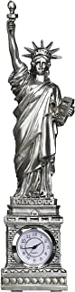 Forgot My Souvenirs Silver Statue of Liberty Clock 10