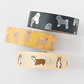 Washi tape set - Welsh Corgi - value pack - decorative tape - Welsh corgi - bichon frise - chihuahua - Love My Tapes