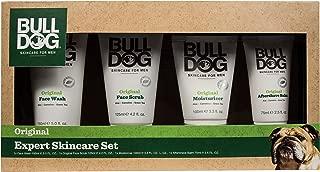 Bulldog Mens Skincare & Grooming Original Expert Skincare Set Including: Shave gel, face Wash, Facial Moisturizer & Aftershave Balm