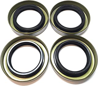 (Pack of 4) WPS Double Lip Trailer Axle Hub Grease Seals 1.68'' X 2.56'' X 0.500'' WPS 168255TB for 1 3/8'', L68149 Trailer Wheel Bearings