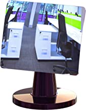 Desk and Cubicle Mirror to See Behind You, CONICAL Shaped Stand with Detachable Wide Angle Real Glass Mirror, Small & Discrete, Beautiful Design, Perfect Curvature for an exceptionally Clear View