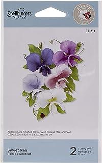 Spellbinders Sweet Pea Dies Spring Flora by Susan Tierney-Cockburn Etched Die Set, Metal