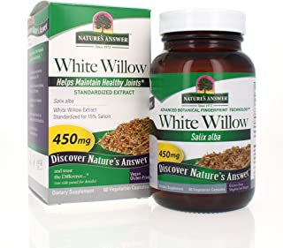 Nature's Answer White Willow | Promotes Overall Health & Well-Being | Vegan, Gluten-Free, Non-GMO & Kosher Certified | 60ct