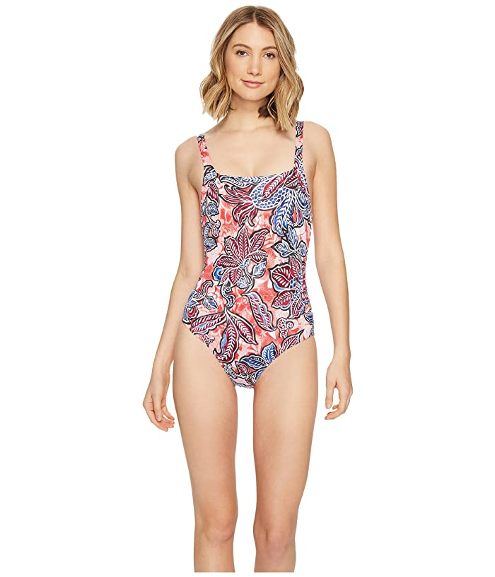 fd7e37d13f Tommy Bahama Java Blossom Over-The-Shoulder Crossback One-Piece Swimsuit