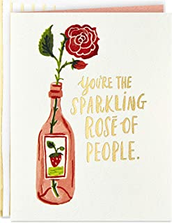 Hallmark Good Mail Birthday Card, Friendship Card, Thank You Card for Women (Sparkling Rosé)