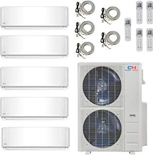 9000 Premium Quality 9000 USA Parts /& Support 18000 9000 COOPER AND HUNTER 4 Zone Mini Split Ductless Air Conditioner Pre-Charged Quad Zone Mini Split Four 25 Linesets