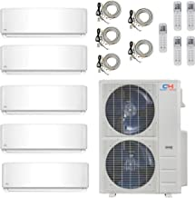 COOPER AND HUNTER Five 5 Zone Ductless Mini Split Air Conditioner Heat Pump 9000 9000 9000 9000 12000 Multi