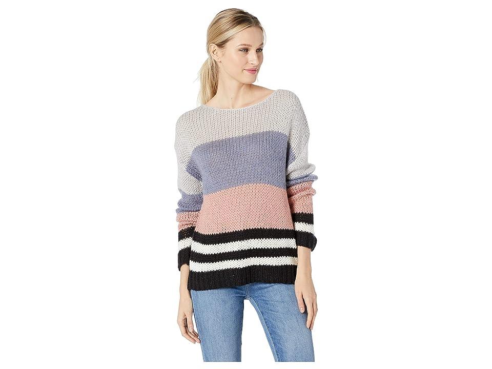 Lucky Brand Bold Stripe Pullover Sweater (Multi) Women