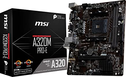 MSI A320M PRO-E M-ATX マザーボード [AMD A320チップセット搭載] MB4699