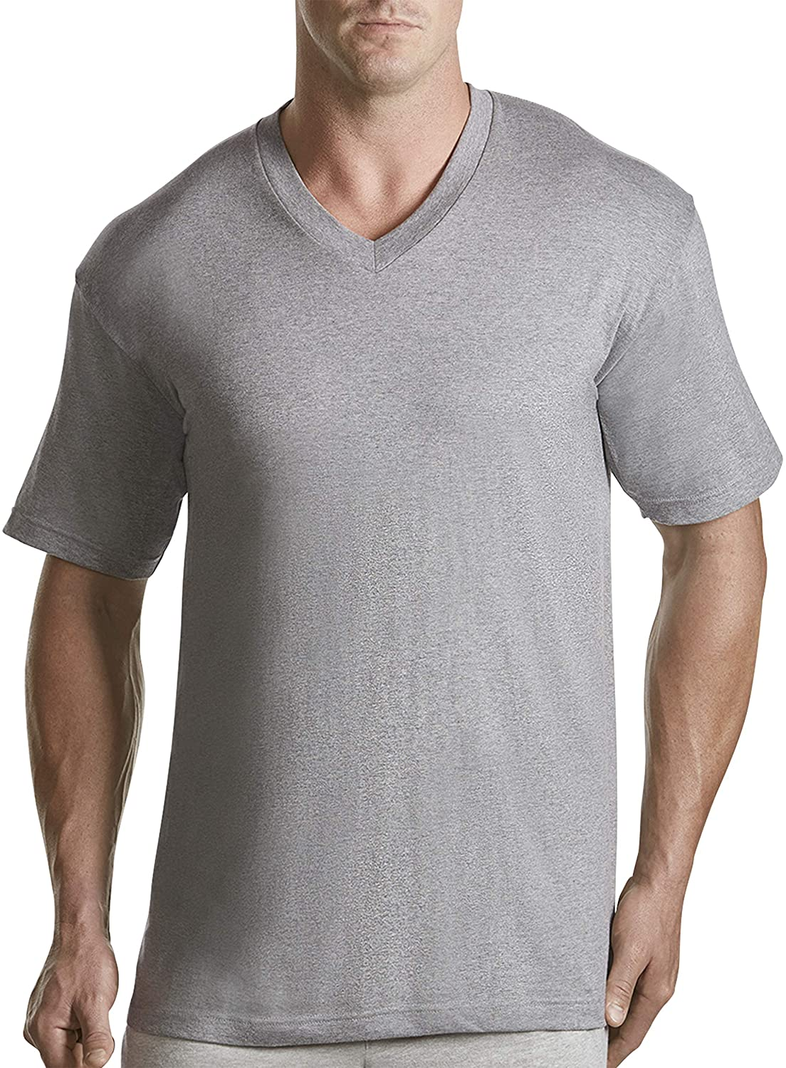 Harbor Bay by DXL Big and Tall 3-pk V-Neck T-Shirts, White